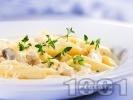Рецепта Паста с пиле, гъби, сметана и мащерка